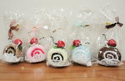 Yummy Swiss Roll Hand Towel -Party Favor-10pcs